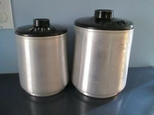 Vintage aluminum canisters