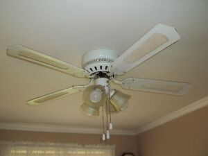 Price Reduced--Ceiling kitchen fan with light--3-speed F and Rev