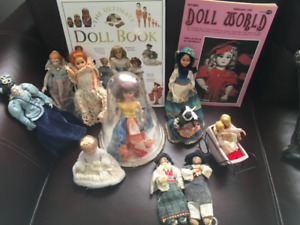 COLLECTION OF VINTAGE DOLLS and Books