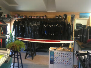 Wetsuits/ Surfboards