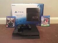 PS4 1TB Console, 2 games, controller, all leads Boxed