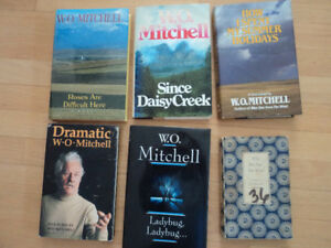 W.O. MITCHELL BOOKS SIGNED
