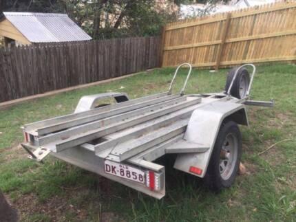 Fully galvanised excellent 3 motor bike trailer or quad