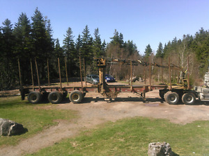 Log trailer and loader
