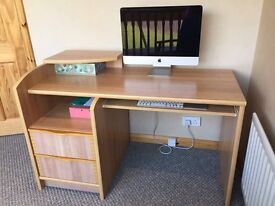 Office study furniture desk chair and filing cabinet solid wood