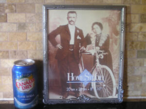 New Unused Two Pewter Tone Large Photo Picture Frames
