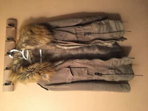 Women's Warm Winter Jacket with Faux Fur lining only Year old! Windsor Region Ontario image 1