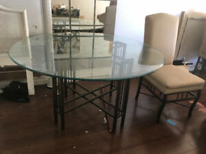 Free!! Glass top kitchen table and 4 chairs