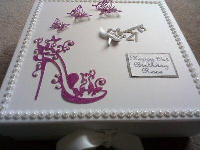 Keepsake Box Birthday personalised Memory Box  21st 30th 40th 50th
