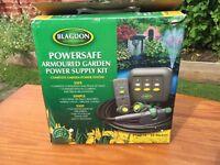 Blagdon powersafe armoured garden power supply kit.