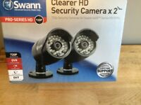 2 X Swann Pro-A850 720P HD Day Night Vision CCTV STC Extra Add On Camera BARGAIN