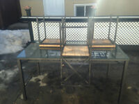 IKEA Glass Dining Table and Chair Set