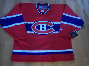 Chandails rouges (adultes) de hockey des Canadiens - NEUFS