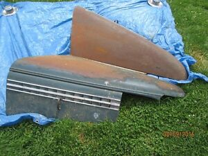 western 1938 Chevrolet car hood and rad support