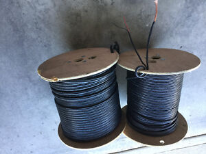 Co-axial cable with side power wires.