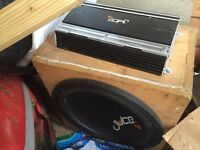 Juice 15 sub amp and box 2 subs