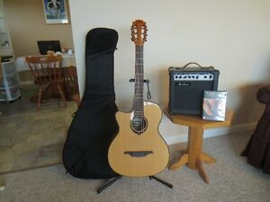 Left hand Guitar and Amplifier