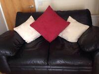 2x2 leather sofa