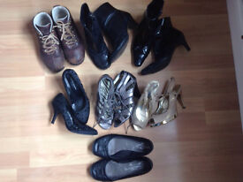 7 PAIRS OF SIZE 4 LADIES SHOES FOR SALE