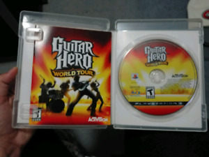 PLAY STATION 3 Guitar Hero game: World Tour Edition