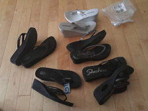 Brand Name - New & Like New Ladies Size 10 Wedge Sandals Shoes