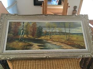 1 large oil painting framed for sale