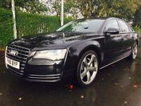 Audi A8 3.0 TDI SE QUATTRO LWBGood / Bad Credit Car Finance (black) 2012