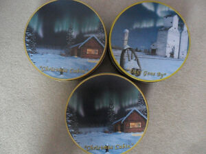 3 Glen Scrimshaw metal containers $10 ea