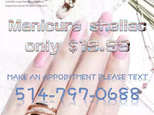 June  special shellac manicure only $ 19.99 near guy-concordia
