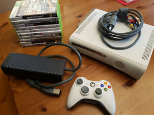 Xbox 360 with 10 games. Mint condition