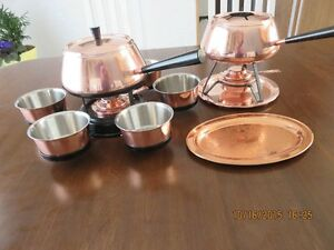 Copper Fondue Pots and Accessories