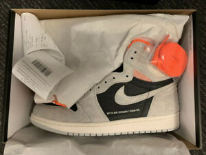 Air Jordan 1 Retro High OG Neutral Grey Crimson Szs 9.5/10/11/12