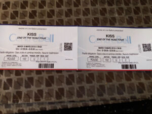 Kiss tickets section 102 reds 175$