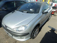 Peugeot 206 1.6 Coupe Cabriolet S DAMAGED REPAIRABLE SALVAGE