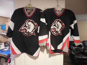 2 assorted NHL Buffalo Sabres hockey jersey