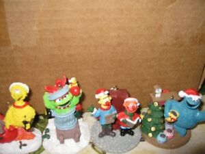 Sesame Street and Whitman's Snoopy Christmas Ornaments