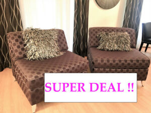 2 ACCENT CHAIR SET