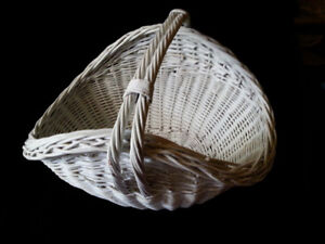 Large White Basket - Great to use for Gift Basket