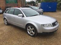 2003 Audi A4 Avant 1.9TDI 130 quattro Sport diesel manual in silver estate