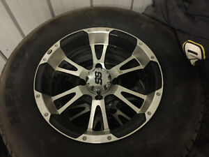 "14"" Suzuki atv SS rims with all season tires"
