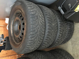 set of 4 new tires on rims