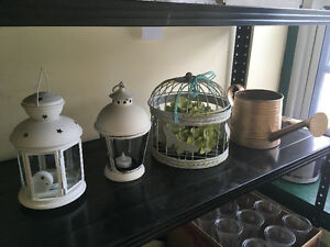 Bird Cage (for a small plant), Lamps, Decorations