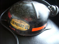 Miners hardhat with light and cord