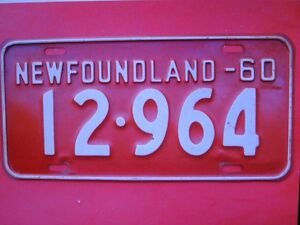 NFLD. plates ( wanted)