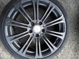 """19"""" single BMW style 220 - 3 series E90 alloy wheel (459)"""