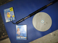 """EXERCISE EQ""""_____ _Exercise Bar, Yoga Mat, 2 NEW Tapes,Twis Tw"""