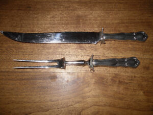 silver carving set
