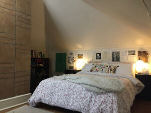 SUMMER SUBLET~May 1-Sept 1~Beautiful Attic Room in Quiet House