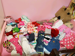 HUGE lot of baby Girls Size 18 Months lot ( some 12 months)