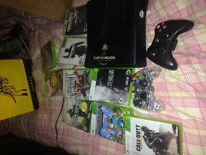 250gb xbox360 with headset and games
